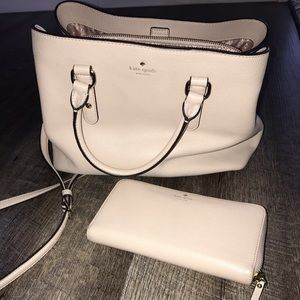Kate spade crossbody and matching wallet
